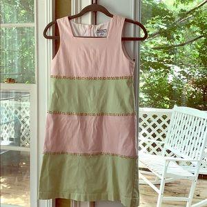 Vintage 1990s Pink Corduroy Heartstrings Dress